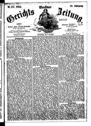 Berliner Gerichts-Zeitung vom 06.10.1864
