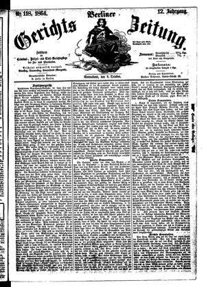 Berliner Gerichts-Zeitung vom 08.10.1864