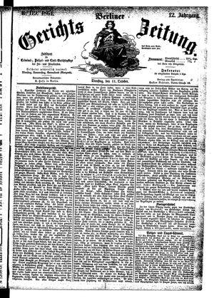 Berliner Gerichts-Zeitung on Oct 11, 1864