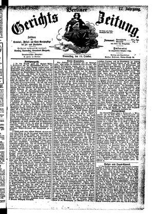 Berliner Gerichts-Zeitung vom 13.10.1864