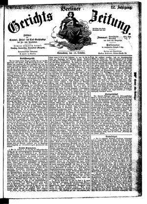 Berliner Gerichts-Zeitung vom 15.10.1864