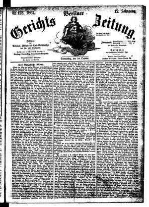 Berliner Gerichts-Zeitung vom 20.10.1864
