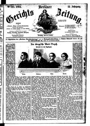 Berliner Gerichts-Zeitung vom 25.10.1864