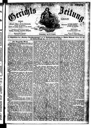 Berliner Gerichts-Zeitung on Oct 27, 1864