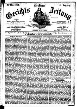 Berliner Gerichts-Zeitung vom 29.10.1864