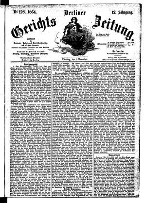 Berliner Gerichts-Zeitung vom 01.11.1864