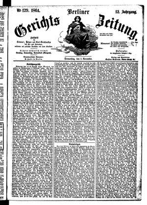 Berliner Gerichts-Zeitung vom 03.11.1864
