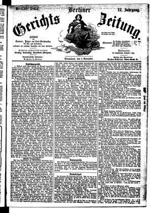 Berliner Gerichts-Zeitung vom 05.11.1864