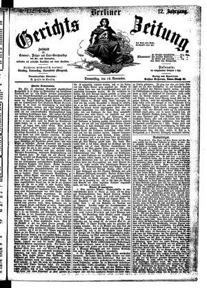 Berliner Gerichts-Zeitung vom 10.11.1864