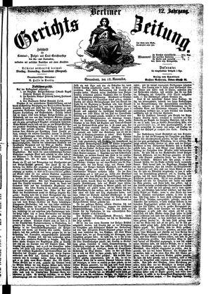 Berliner Gerichts-Zeitung vom 12.11.1864