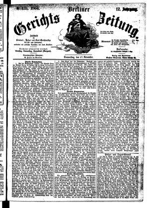 Berliner Gerichts-Zeitung on Nov 17, 1864