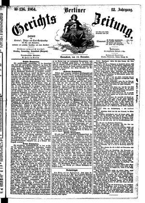 Berliner Gerichts-Zeitung vom 19.11.1864