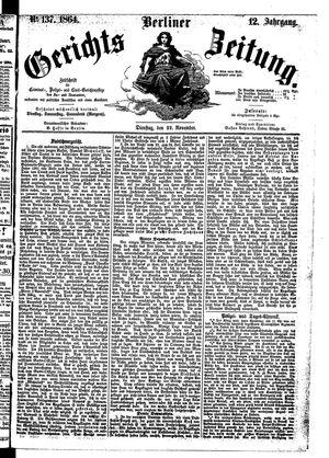 Berliner Gerichts-Zeitung vom 22.11.1864