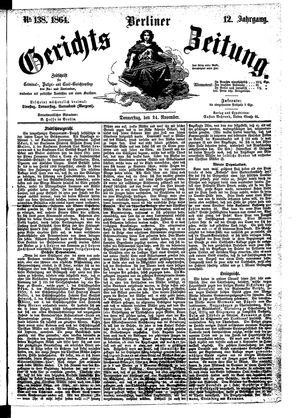 Berliner Gerichts-Zeitung vom 24.11.1864
