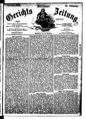 Berliner Gerichts-Zeitung vom 26.11.1864