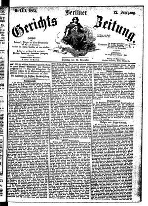 Berliner Gerichts-Zeitung on Nov 29, 1864