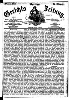 Berliner Gerichts-Zeitung on Dec 1, 1864