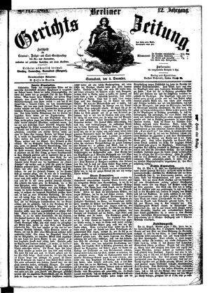 Berliner Gerichts-Zeitung vom 03.12.1864