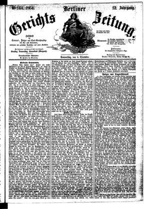 Berliner Gerichts-Zeitung vom 08.12.1864
