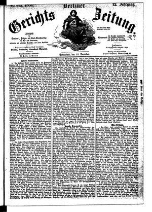 Berliner Gerichts-Zeitung vom 10.12.1864