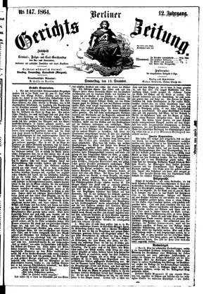 Berliner Gerichts-Zeitung vom 15.12.1864