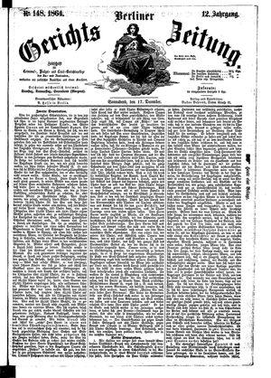 Berliner Gerichts-Zeitung on Dec 17, 1864