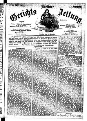 Berliner Gerichts-Zeitung on Dec 20, 1864