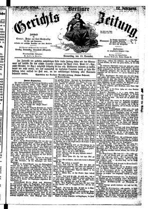 Berliner Gerichts-Zeitung vom 22.12.1864