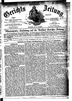 Berliner Gerichts-Zeitung vom 29.12.1864