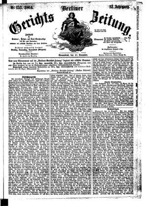 Berliner Gerichts-Zeitung vom 31.12.1864
