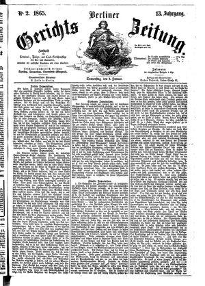 Berliner Gerichts-Zeitung vom 05.01.1865