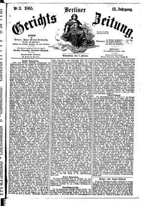 Berliner Gerichts-Zeitung on Jan 7, 1865