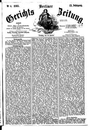 Berliner Gerichts-Zeitung vom 10.01.1865