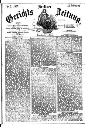 Berliner Gerichts-Zeitung vom 12.01.1865