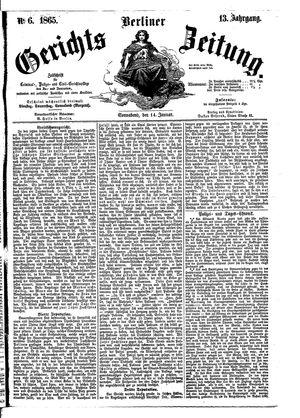 Berliner Gerichts-Zeitung vom 14.01.1865