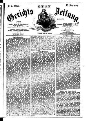Berliner Gerichts-Zeitung vom 17.01.1865