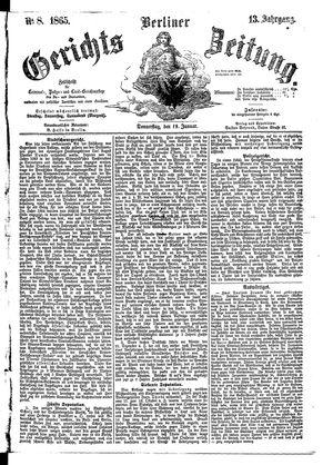Berliner Gerichts-Zeitung vom 19.01.1865
