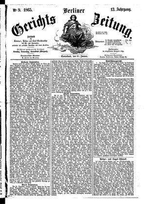 Berliner Gerichts-Zeitung vom 21.01.1865