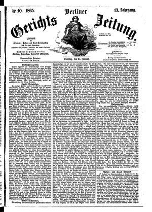 Berliner Gerichts-Zeitung on Jan 24, 1865