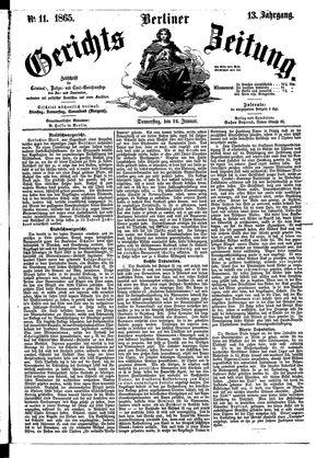 Berliner Gerichts-Zeitung vom 26.01.1865
