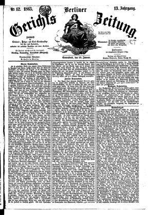 Berliner Gerichts-Zeitung vom 28.01.1865