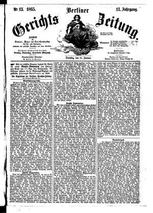 Berliner Gerichts-Zeitung vom 31.01.1865
