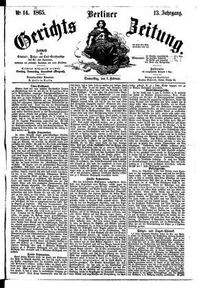 Berliner Gerichts-Zeitung vom 02.02.1865