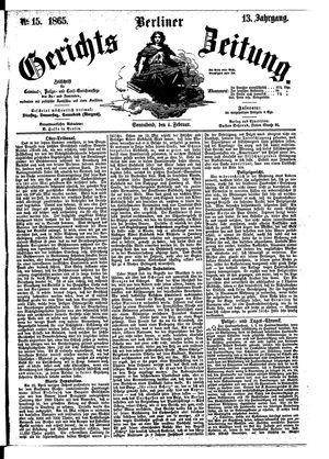 Berliner Gerichts-Zeitung vom 04.02.1865