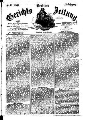 Berliner Gerichts-Zeitung vom 11.02.1865