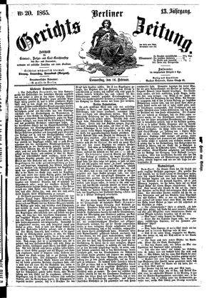 Berliner Gerichts-Zeitung vom 16.02.1865