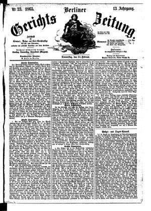 Berliner Gerichts-Zeitung vom 23.02.1865