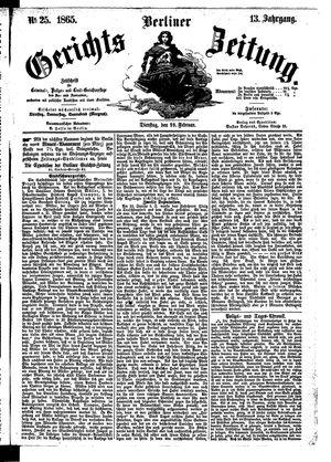 Berliner Gerichts-Zeitung vom 28.02.1865