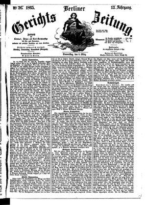 Berliner Gerichts-Zeitung vom 02.03.1865