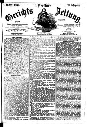 Berliner Gerichts-Zeitung vom 04.03.1865